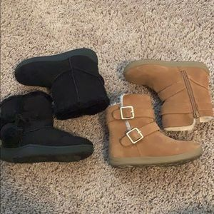 2 pairs of little girl boots 👢